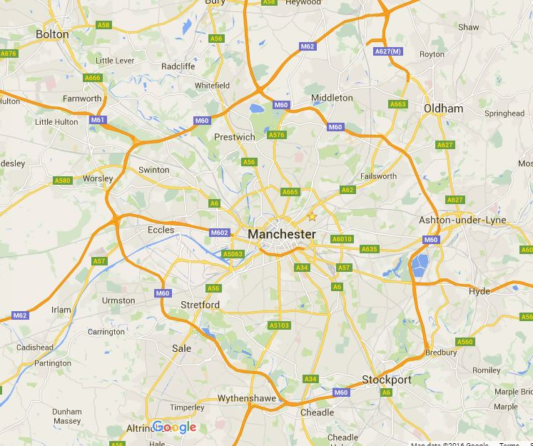 Map of Manchester removals areas covered